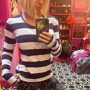 Lululemon striped reversible long sleeve top